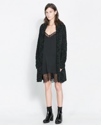 looks con chaqueta de punto oversize