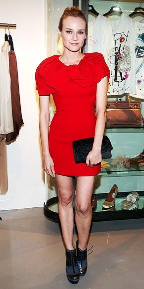 Diane kruger vestido rojo